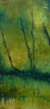 détail de la toile le marais poitevin