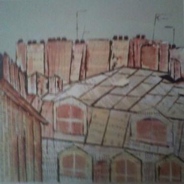 Brassens sur les toits de Paris