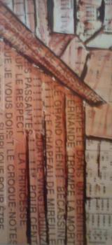 détail de la toile de Brassens